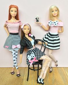 862 отметок «Нравится», 9 комментариев — Emily Polak (@emilypm3) в Instagram: «Pink, black & white fun  #barbie #barbiedoll #barbiemadetomove #madetomovebarbie #barbiestyle…»