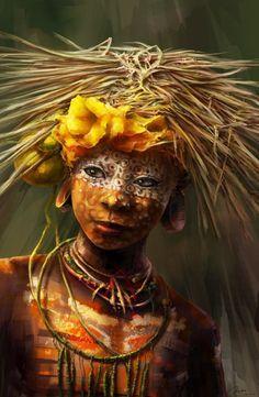 indiginous headhunter face painting | People of the world ** on Pinterest