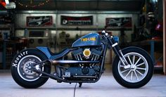 "Introducing DP Custom Cycles ""Two-Lane"".  Influenced by one of their favorite movies.  It's got a built up 1250cc with lots of go-fast goodies.  Sporting a 15"" American Racing Wheel out back & a Radir Dragster Wheel up front.  They say, ""Loud Pipes Save Lives""...in this case, the new owner will be in good hands!    http://dpcustomcycles.com/two_lane.html"