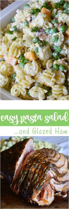 This Easy Pasta Salad Recipe is perfect for picnics, holiday feasts and potlucks! Just in time to make as an Easter side dish. It goes great with a glazed spiral ham!