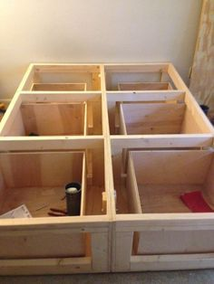Platform Bed with Drawers - All