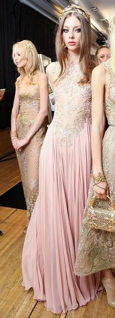 Elie Saab fall 2015 couture backstage | House of Beccaria~