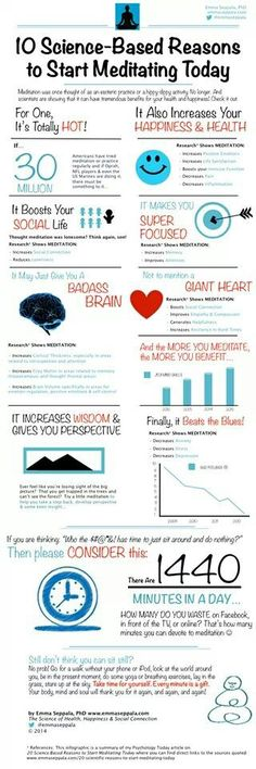 10 science based reasons to start meditating today #meditate