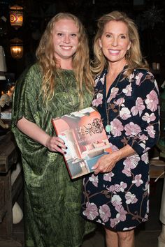 Tessa & Peggy Platner at The Well-Traveled Home by Sandra Espinet book signing at Berbere World Imports in Los Angeles, May 2014. #thewelltraveledhome #sandraespinet #interiordesign #berbereworldimports