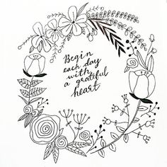 ideas flowers wreath quote for 2020 Hand Embroidery Patterns, Embroidery Designs, Colouring Pages, Coloring Books, Wreath Drawing, Flower Doodles, Doodle Flowers, Chalkboard Art, Bible Art