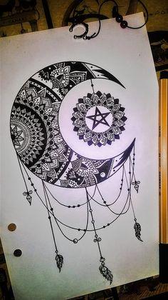 """""""Take me to the Moon and back"""" MANDALA  #mandala #moon"""
