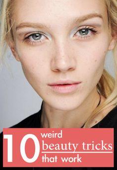 10 weird beauty tricks that work