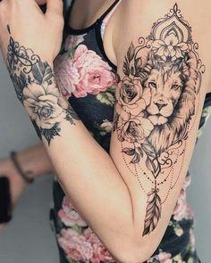 Tattoo Ideas, Tattoo for Guys, Geometric Tattoo, Thigh Tattoo, Tatto … - tatoo feminina Cute Tattoos, Unique Tattoos, Leg Tattoos, Body Art Tattoos, Sleeve Tattoos, Small Tattoos, Horse Tattoos, Celtic Tattoos, Animal Tattoos