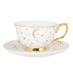 It's Written in the Stars Teacup & Saucer - Ivory & Gold, You are able to enjoy morning meal or different time times using tea cups. Tea cups also provide decorative features. When you look at the tea cup types, you will see this clearly.