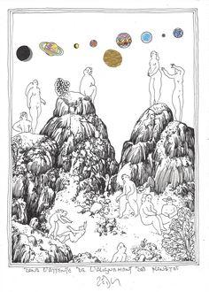 « Waiting for the planets to align – Dans l'attente de l'alignement des planètes » Frank Eric Zeidler