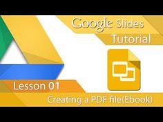 Google Slides - Tutorial 01 - Creating a PDF (E-Book) - YouTube