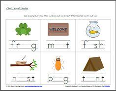 math worksheet : fill in the short vowel  short vowels worksheets and shorts : Vowel Worksheets Kindergarten