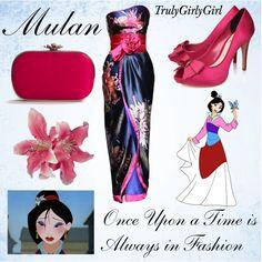 """Disney Style: Mulan"" by trulygirlygirl on Polyvore.    Un día como Mulan estaría ganador!!!"