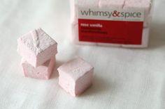 Handmade Rose Vanilla Marshmallows, 1 dozen. $6.50, via Etsy.
