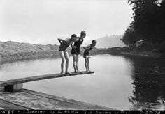 Opening of Lincoln Park swimming pool, 1925 by Seattle Municipal Archives, via Flickr