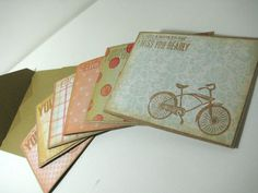 Stationery card setbike by ArasPaperCreations on Etsy, #cardmaking #papercrafts #stationery #handmade cards
