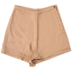 Beige High Waisted Shorts ($35) ❤ liked on Polyvore featuring shorts, bottoms, highwaist shorts, beige high waisted shorts, high rise shorts, high-waisted shorts and high-rise shorts