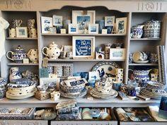 Blue and White Bridgewater