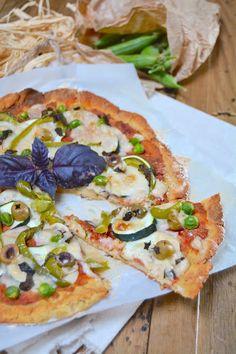 Pizza aux Légumes Verts #vegan & sans gluten @ Rose Noisettes