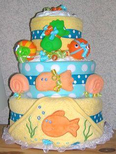 Gifts by Jayde Elite & Mega Elite Ocean Theme Diaper Cakes