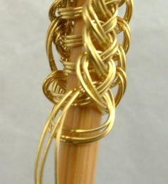 Viking knit wire jewelry