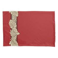 Cliff Hanger Hawaiian Monstera Leaf Red Pillow Case Majestic Monstera Leaf products gifts and home goods featuring the giant leave called Monstera. Retro Floral, Floral Style, Red Pillows, Leaf Art, Cliff, Home Gifts, Hawaiian, Vibrant Colors, Pillow Cases