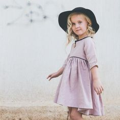 Raglan Dress in Pink by Popelin