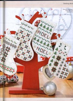 - Get stitching on this gorgeous mini Christmas stocking using a variety of speciality threads, plus beads – perfect for tiny treats! Mini Christmas Stockings, Mini Stockings, Christmas Minis, Christmas Cross, Christmas 2017, Winter Christmas, Christmas Ideas, Christmas Ornaments, Free Cross Stitch Charts