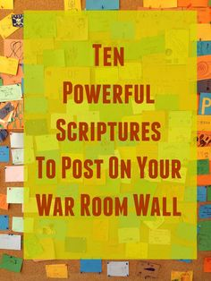 Powerful Scriptures to Post on Your War Room Wall Want to wage war on your knees? Here are 10 powerful Scriptures to post on your War Room wall.Want to wage war on your knees? Here are 10 powerful Scriptures to post on your War Room wall. Prayer Wall, Prayer Room, Prayer Board, My Prayer, Prayer Circle, Prayer Times, Powerful Scriptures, Prayer Scriptures, Bible Prayers