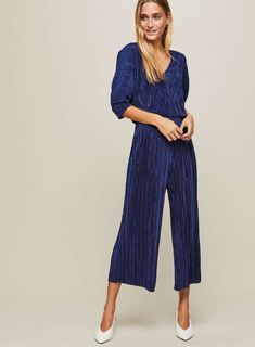 Royal Blue Jumpsuit with Batwing Sleeves  bcdad4228a805
