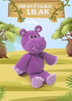 Bichinhos Amigurumi Receita PDF - Como Fazer Crochet Toys, Safari, Free Pattern, Dinosaur Stuffed Animal, Crochet Patterns, Projects, Crafts, Diy, Animals