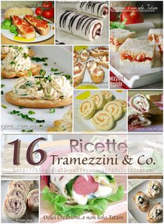 Ricette di Tramezzini & Co. | raccolta, ricette senza cottura Party Finger Foods, Snacks Für Party, Finger Food Appetizers, Sandwiches, No Cook Desserts, Dessert Recipes, Tapas, Cooking Time, Cooking Recipes