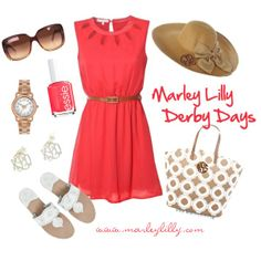 """""""Marley Lilly Derby Days: Coral Me Happy"""" by marleylilly on Polyvore"""