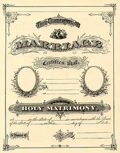 Vintage Marriage Certificate  From The Graphics Fairy