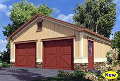 Bungalow Garage Plan 80247