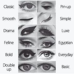 different ways to do eyeliner.