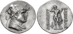 Demetrios founder of the Indo-Greek kingdom Baktria Tetradrachm 200-185 BC…