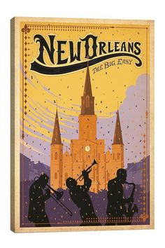 New Orleans LA Postcard - tap, personalize, buy right now! You can find Louisiana and more on our website.New Orleans LA Postcard - tap, personalize, buy right now! Canvas Art, Canvas Prints, Canvas Size, Vintage Travel Posters, Poster Vintage, Vintage Advertisements, A Team, New Art, Graphic Art