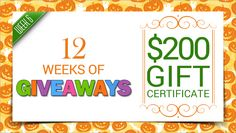 Just 6 days left to enter Week 6 of #12WeeksOfGiveaways: $200 HPFY Gift Certificate! Enter now!!!