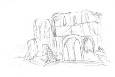 Roche Abbey Ruins pencil sketch Pencil, Sketch, Photo And Video, Artwork, Instagram, Sketch Drawing, Work Of Art, Drawings, Sketches