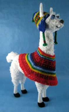 Knitting pattern for Peruvian Llama by Alan Dart
