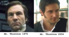 Patrick Stewart, John Thornton North and South directed by Rodney Bennett  (TV Series, 1975- ) & Richard Armitage - North and South (TV MIni-Series, 2004)