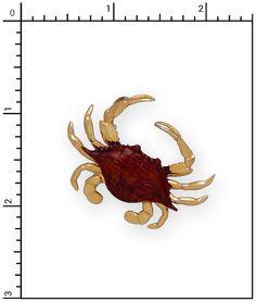 Nautical Jewelry - 14Kt. Teak Crab, Teak, 5-T353PT