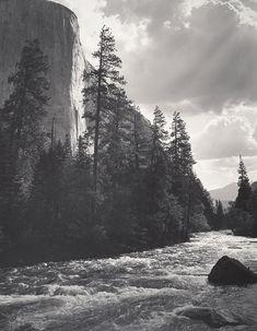 1948 El Capitan, Merced River, Clouds, Yosemite National Park, Ca By Ansel Adams