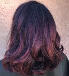 Well-Blended Rose and Burgundy Highlights