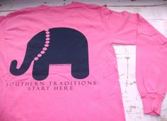 Dixie Peaches Couture- preppy belle elephant t-shirt