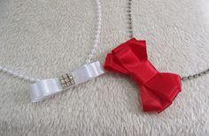 faixa de cabelo kit Lucy vermelho/branca