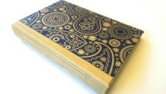 Gold Paisley, Junk Journal, Writing Journal, Book of Shadows, Diary, Wedding Guestbook, Dream Journal, Shower Gift, Boho Journal, A5