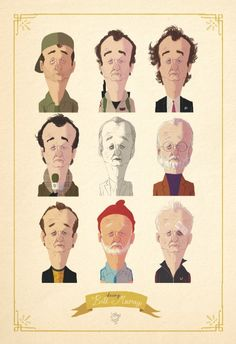 Being Bill Murray via Etsy by Spanish illustrator and storyteller Loren (http://dibujosloren.blogspot.com.es)