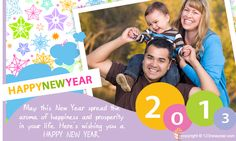 New Year Family Cards